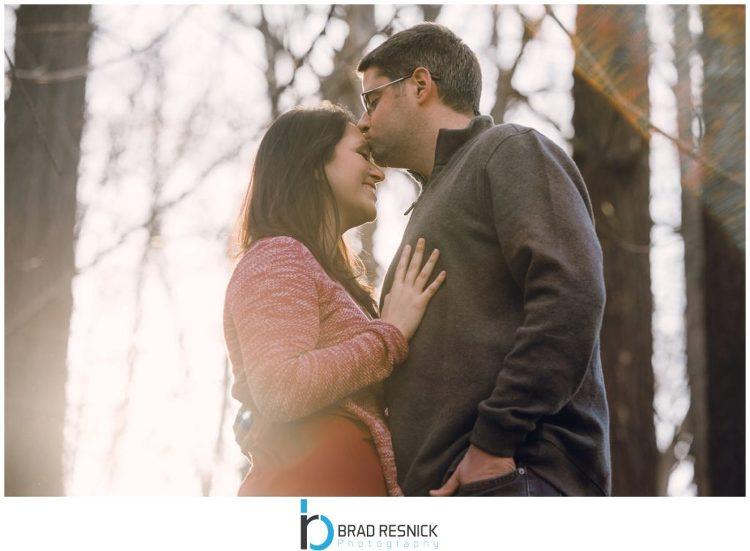 Boonton Engagement Kissing